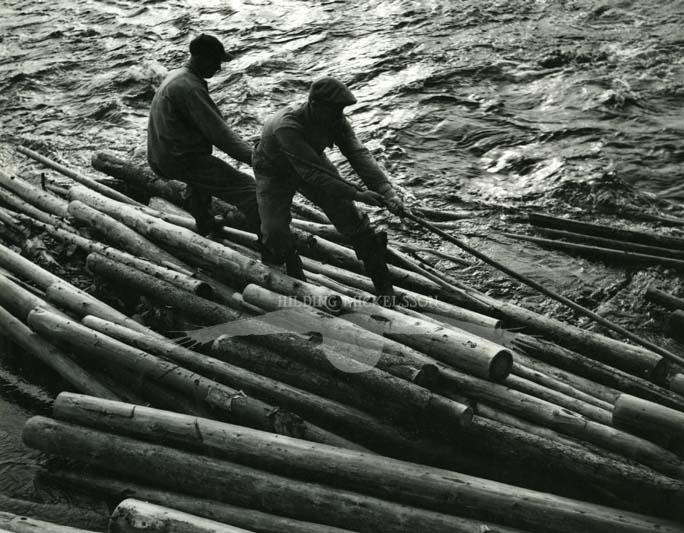 Flottning, Bollnäs, 1950.