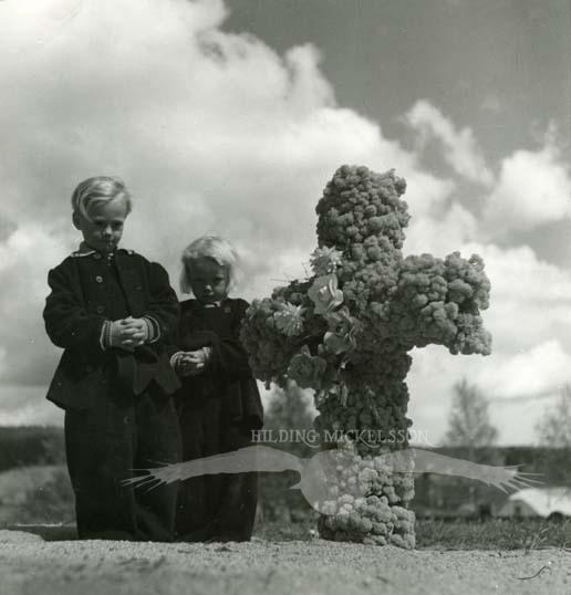 Rengsjö kyrkogård, våren 1950.