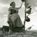 Petra vid kärlstället, Keinovuopio, augusti 1961.