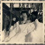 Sigfrid Larsson, Roland i mitten och Gunnar Larsson till höger. 1940