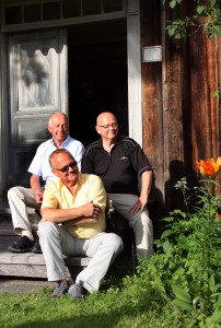 Lars Eric Ericsson, Erik Hildingson och Olle Hildingson Foto: Anna Hildingson Edling