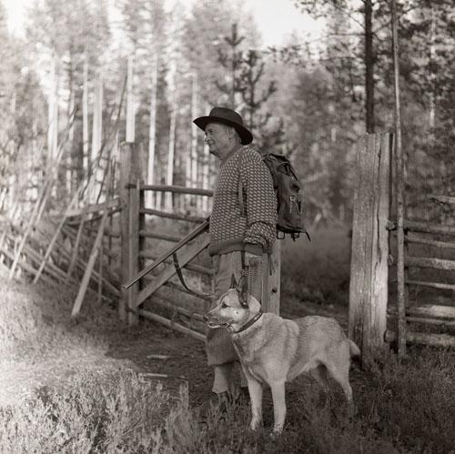 30:e Törnbesöket. Albert på jakt 8-9/9 -60. Foto Hilding Mickelsson