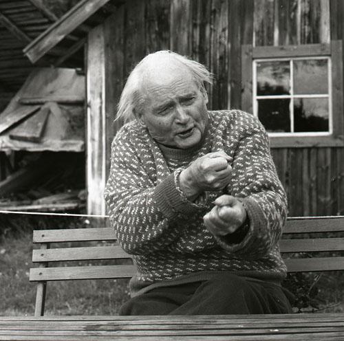 Albert berättar 19/8 -62. Foto Hilding Mickelsson
