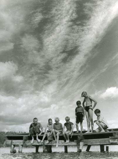 4 165 Skidtjärn, Rengsjö, 1950. Foto Hilding Mickelsson