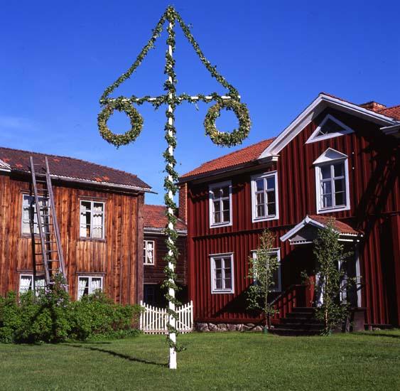 46 508: Midsommarfesten, Hembygdsbyn, Rengsjö. Midsommarafton 24/6 1994. Foto: Hilding Mickelsson