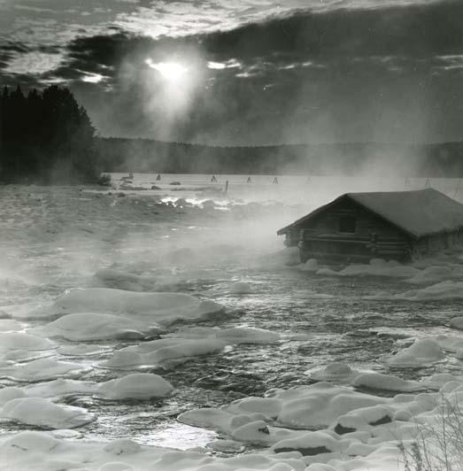 """M 5338: """"Kallvinter, Ljungan"""". Inget årtal funnet. Foto: Hilding Mickelsson"""
