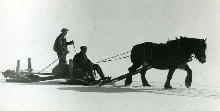 M 7193 Över Hölesjöns snöhöljda is, Lars Larsson, Erik Larsson