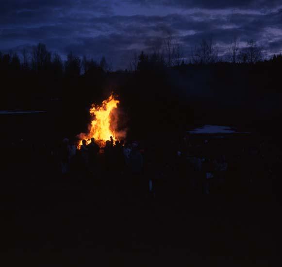 M 26 397: Majkasen vid Skålsjögården (då jag, HM, vårtalade). Foto: Hilding Mickelsson