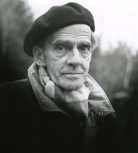 M 5 910: Författaren Karl Rune Nordkvist. Bollnäs, 12/11-85. Foto: Hilding Mickelsson