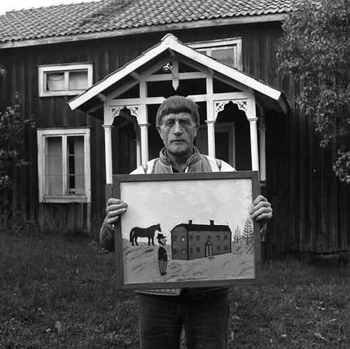 M 70 924: Einar Svedin i brokvisten 9/9 - 78. Foto: Hilding Mickelsson
