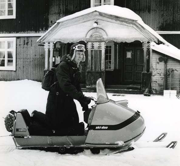 M 5 018:Snöskoter, Härjedalen Foto: Hilding Mickelsson