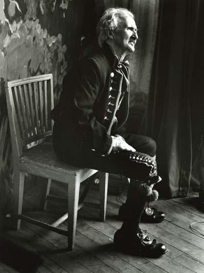 M 6 721: Riksspelmannen Jon-Erik Öst f. 1885 d. 1968 ,Bergsjö -64. Foto: Hilding Mickelsson