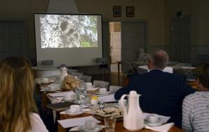 Före de sedvanliga årsmötesförhandlingarna visade Filmaren Berndt Persson, Hudiksvall en naturfilm, med fåglar och ugglor som han förknippade med Hilding Mickelssons enorma naturintresse.