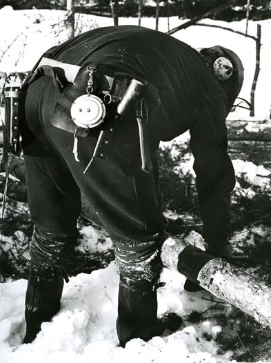 M 7602 Skogsarbetare Foto: Hilding Mickelsson