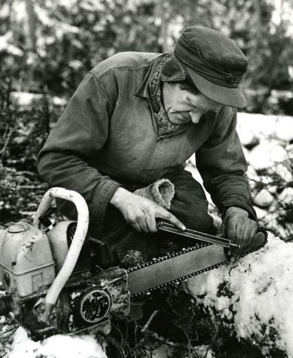 M 7604 Skogsarbetare Foto: Hilding Mickelsson