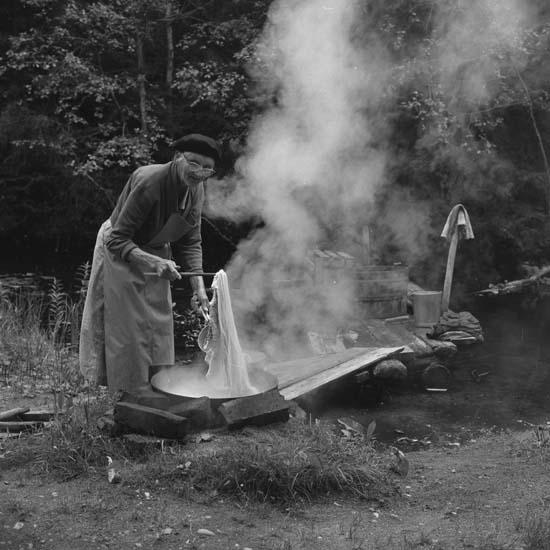 M 67 964:Trolldalenreportaget aug - sept 1960. Per Wannkvist Jonas Ström. Foto: Hilding Mickelsson