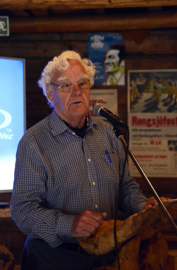 Stig Wengelin från Albert Viksten Sällskapet höll en föreläsning om Albert Viksten. Foto Anna Hildingson